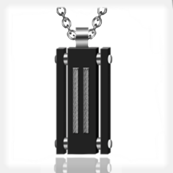 Men's Stainless Steel and Tungsten Pendant by Gent Man