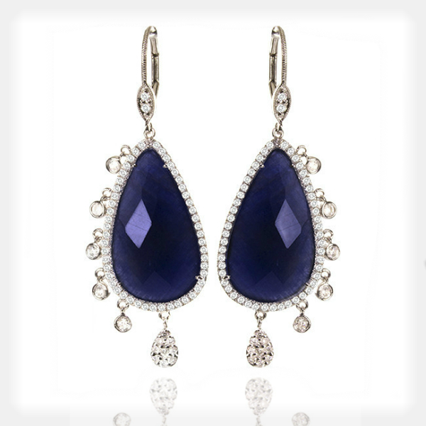 Women's Sapphire and Diamond Earrings by Meira T