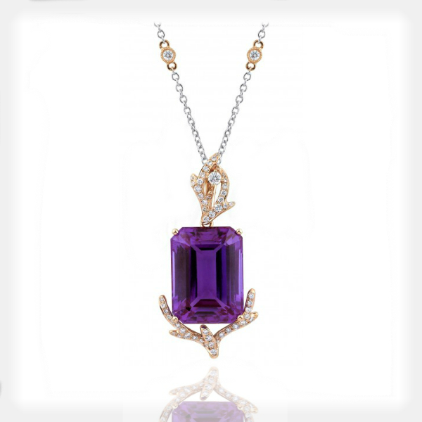 Women's Alexandrite Pendant with Diamond Accents by Supreme Jewelry
