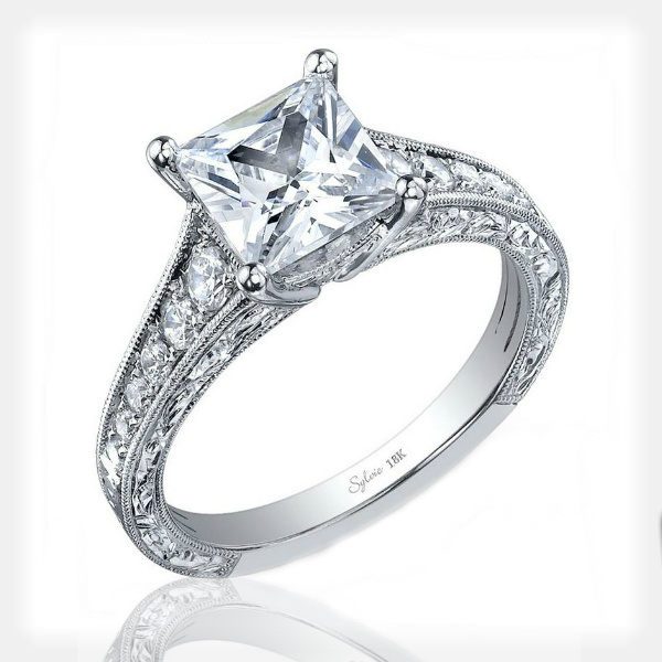 Princess Cut Engagement Ring by Sylvie Collection