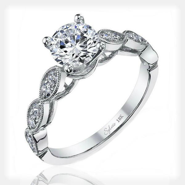 Unique Engagement Ring by Sylvie Collection