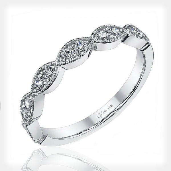 Unique Engagement Ring with Wedding Band by Sylvie Collection