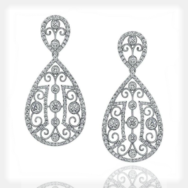 Women's Unique Earrings with Diamond Accents by Sylvie Collection