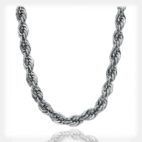 Men's Bold Stainless Steel Rope Necklace by Triton