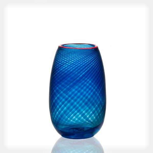 Red Rim Vase, Small