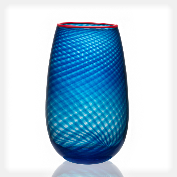 Red Rim Vase, Large
